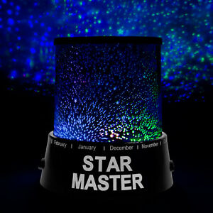 led sternenhimmel projektor m 3 leuchtprogramme nachtlicht lampe einschlafhilfe ebay. Black Bedroom Furniture Sets. Home Design Ideas