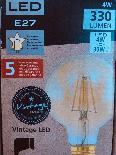 Pære, 4 E27 LED elpærer med varmt lys