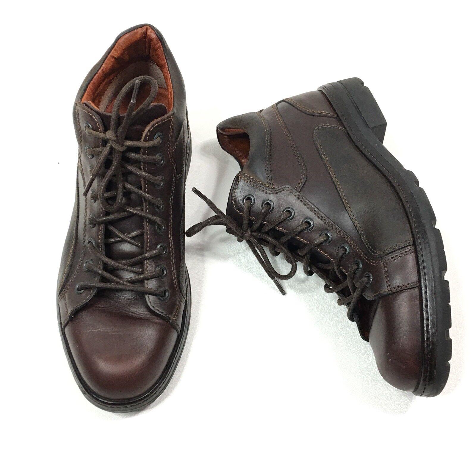 Johnston & Murphy 20-7924 Mens braun Leather Cap Toe Ankle Lace Up Stiefel Sz 8 M