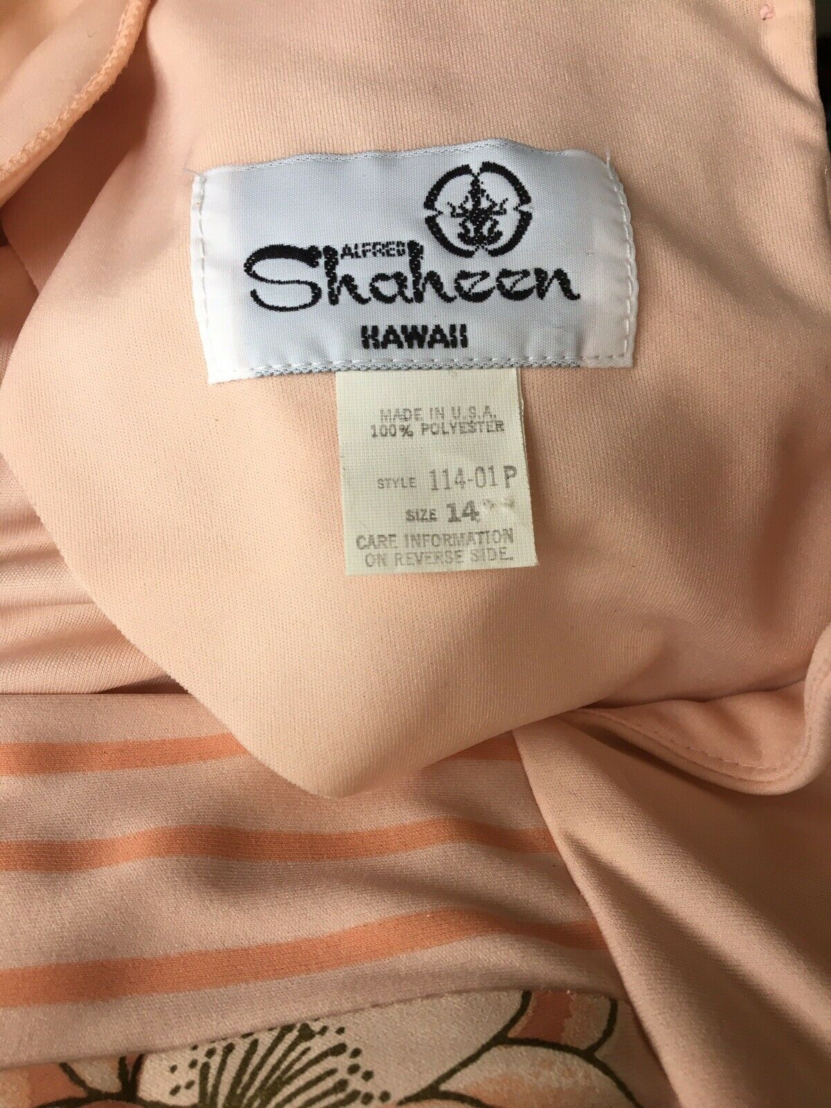 Vintage 1980's Alfred Shaheen Dress - image 3