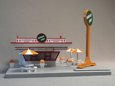 MTH RAIL KING BURGER CHEF FAST FOOD RESTAURANT STAND o gauge building 30-90084
