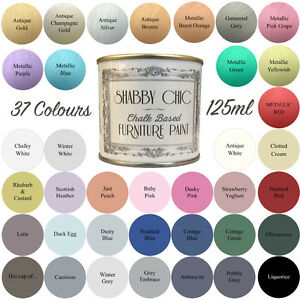 shabby chic chalk paint f r m bel 125ml matte oberfl che. Black Bedroom Furniture Sets. Home Design Ideas