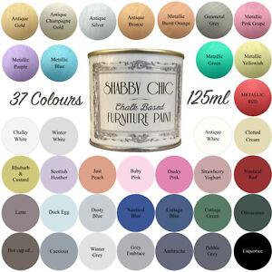 Shabby Chic Chalk Paint Für Möbel 125ml Matte Oberfläche Auswahl aus ...