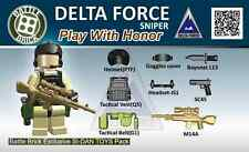 Army Delta Force Airborne Weapons Pack (SKUP20) Designed for Brick Minifigures