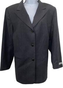 Nwt Austin Reed Women S Gray Classic 100 Wool Blazer Jacket Size 16w Petite Ebay