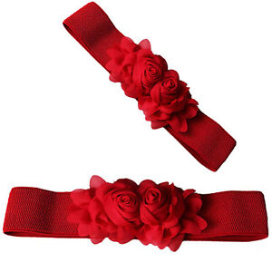 Mode Dame Femme Ceinture Pu cuir Ceinture -rouge M1   eBay 159e9103737