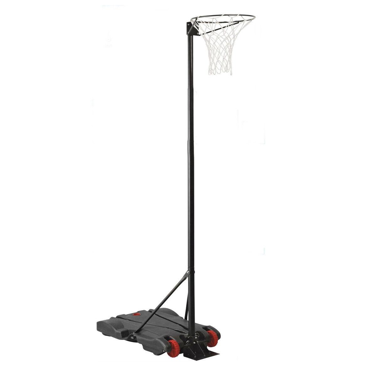 Charles Bentley Netball Hoop Post Height 1.4M - 2.75M Free Standing On Wheels