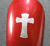 Cross Finger Nail / Toe Nail Religious Decals / Stickers / Art Easter Christmas