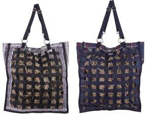 Slow Feeder Gitter Heusack für 4-6 kg Design Auswahl Öffnungen 3,5-4 cm