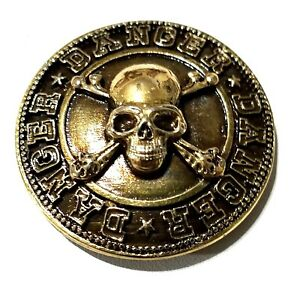 concho-screw-snap-Skull-cross-bones-Thunder-bolt-Gothic-biker-wallet-trucker