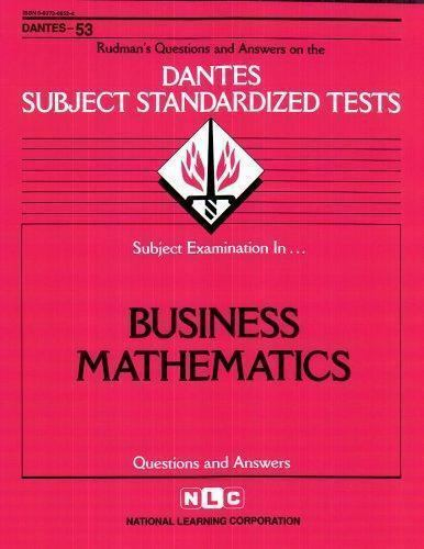 National Learning Corporation-Business Mathematics BOOK NEW