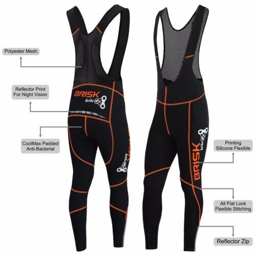 Briskbike Pro Vibrant Compression Tight Fit Cycling Padded Bib Pants Trousers