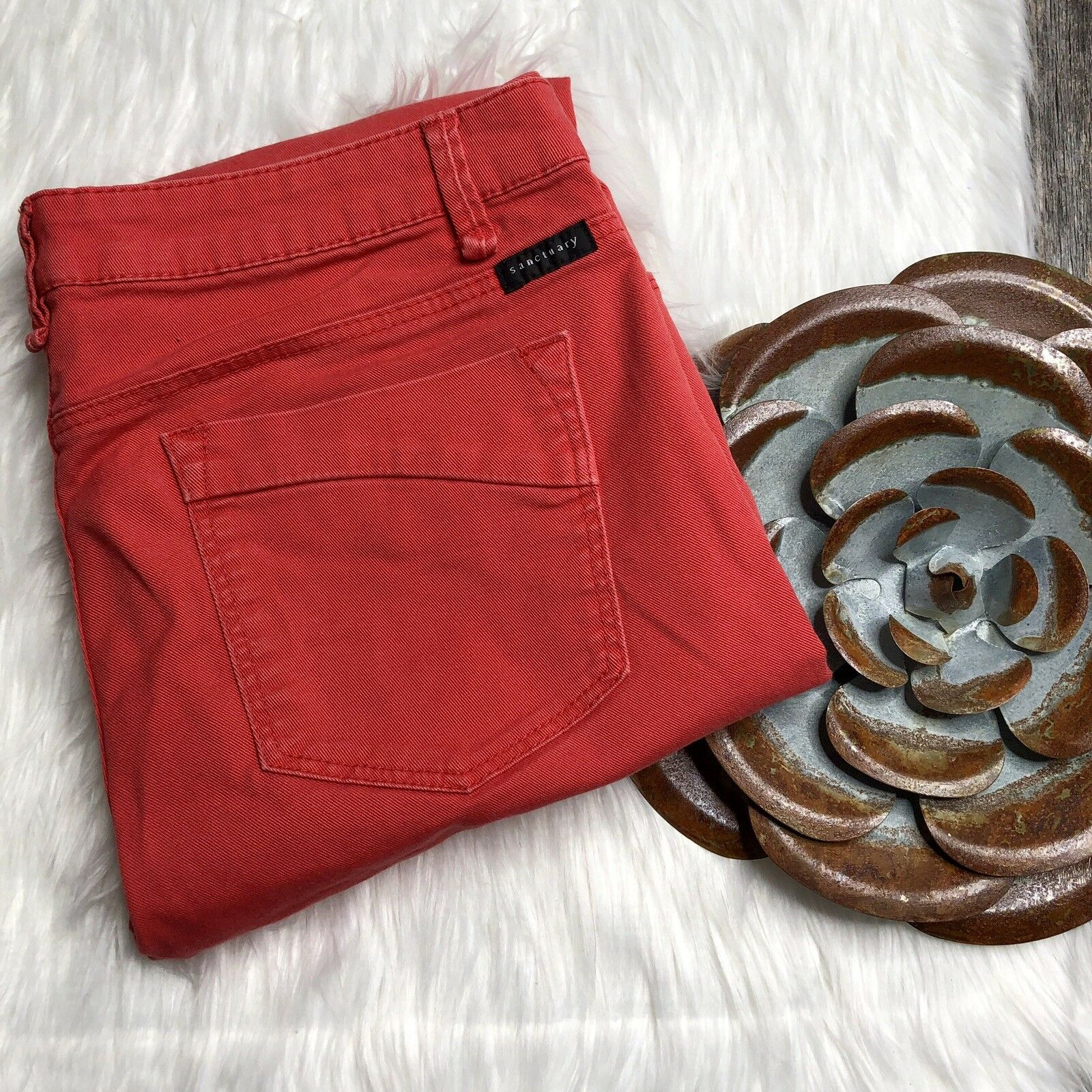 """SANCTUARY Denim Cropped 29 """"The Charmer"""" Pink MSRP"""