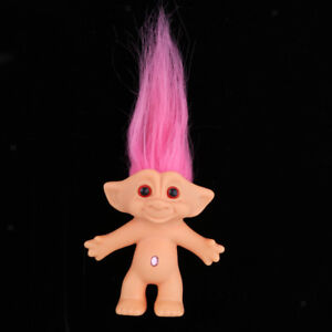 Delicate Lucky Troll Doll Mini Action Figurines Toy Cake Decorations #5