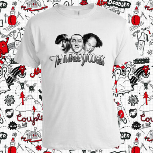 Nouveau The Three Stooges Funny Movie Logo Hommes t-shirt Blanc Taille S-3XL
