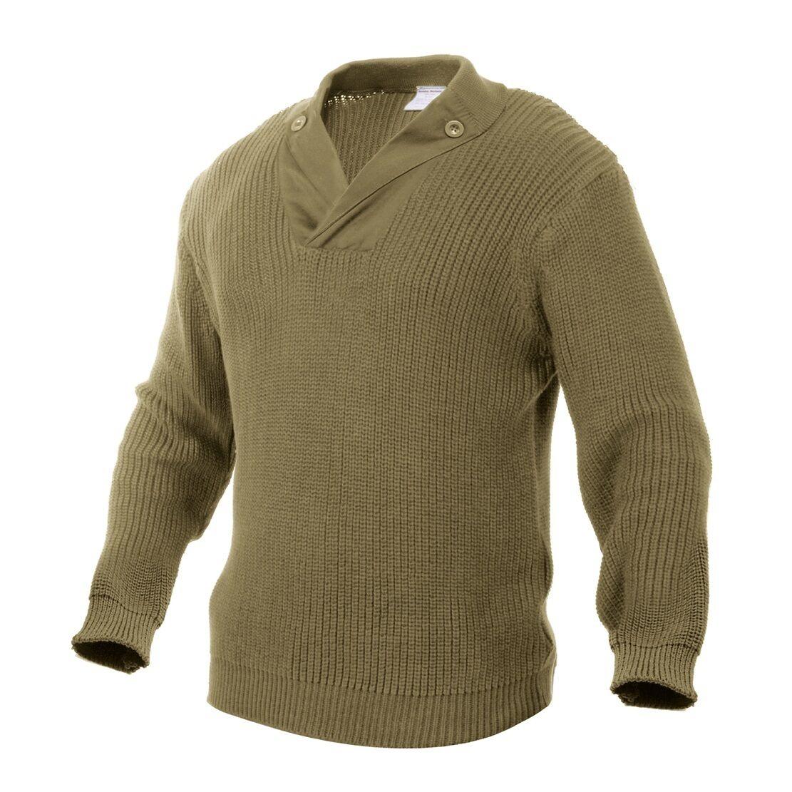 Us Army WWII wk2 (repro) caqui vintage Mechanics suéter suéter XL Xlarge