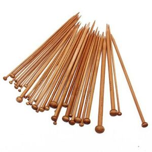 36-Stk-Set-Bambus-Haekeln-Stricknadeln-stricken-2mm-10mm-36cm-lang