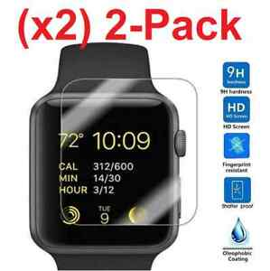 2-PACK-Tempered-Glass-Screen-Protector-For-Apple-Watch-Series-2-38mm-42mm