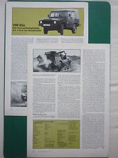 2/79 ARTICLE 3 PAGES EN ALLEMAND BOMBARDIER VW ILTIS BUNDESWEHR GELANDE 4X4