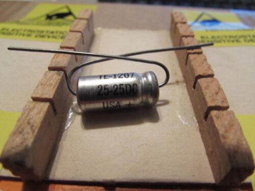 25DC Sprague 30D TE-1207 USA Axial Capacitor 1 Piece 25uF NOS USA 25V 25uF