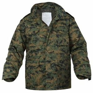 9e7c938dfa270 Military M-65 Field Jacket With Liner Woodland Digital Camouflage ...