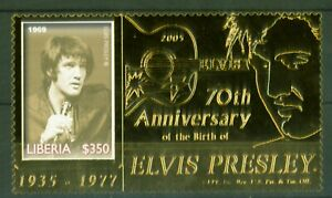 Liberia-2006-Elvis-Presley-Foto-1969-Gold-Folie-70-Geburtstag-Nr-5149
