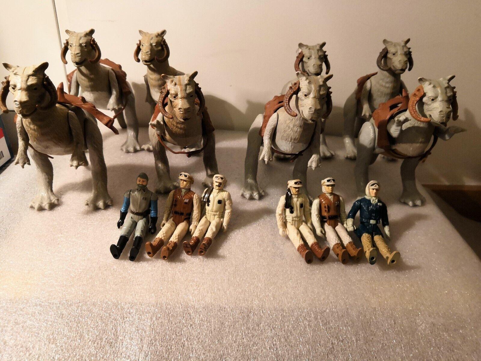 Star Wars lot vintage tauntaun figures 1970+ 14 in total