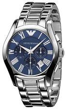 Original Emporio Armani AR1635,mens NEW chronograph watch blue dial