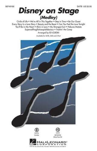 SATB Piano Accompaniment Sheet Music Voca SATB//Piano Medley Disney On Stage