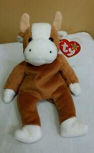 Ty Beanie Baby BESSIE the Cow w Errors  4009 1995 PVC MWMT  b298f493589