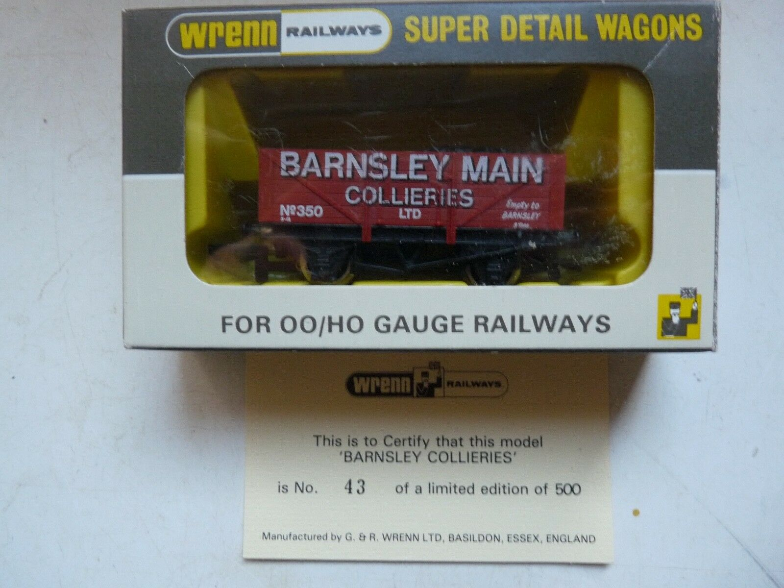 WRENN W.5500 'BARNSLEY COLLIERIES' 43 OF 500 LIMITED EDITION P4 MINT BOXED