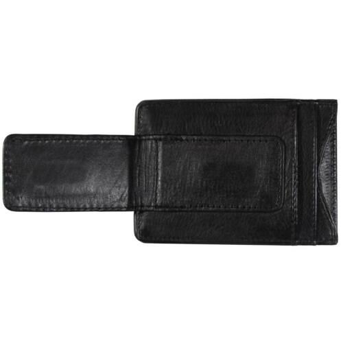 NCAA Arizona State ASU Black Leather Money Clip Card Holder Full Grain Wallet