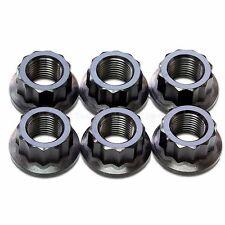 6x Black Titanium Rear Sprocket Nuts Ducati Panigale 1098, 1198, 1199, 1299 S R