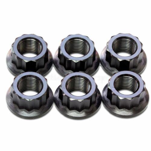 6x Black Titanium Rear Sprocket Nuts Ducati Multistrada 1200
