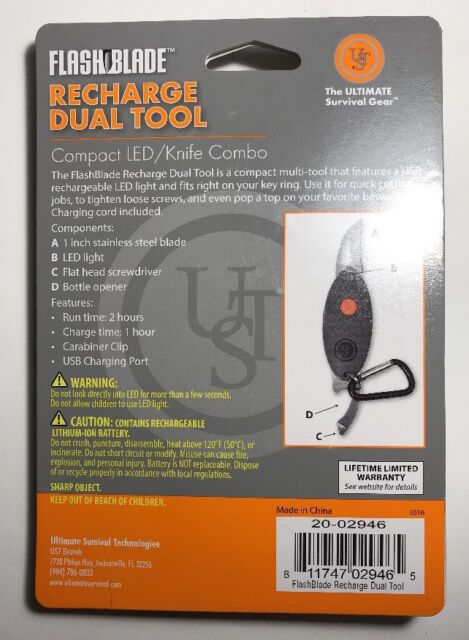 Ultimate Survival Technologies UST Flashblade Recharge Dual Tool for sale online