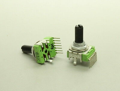 2 x 14mm Alpha B5K 5K Linear Taper Potentiometer Dual-Gang With Center Detent