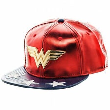 DC Comics Wonder Woman Snapback Suit Up Metal Icon Baseball Hat Adjustable Cap