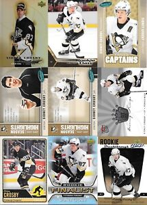 U-PICK-039-EM-LOT-200-Sidney-Crosby-Base-RC-Inserts-Collection-Cards-Penguins