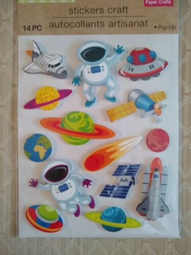 3D Pop Up Outer Space Stickers