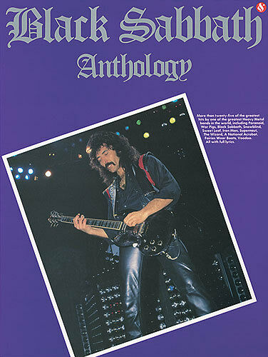 Black Sabbath ANTHOLOGY Guitar Sheet Music TAB Book NEW