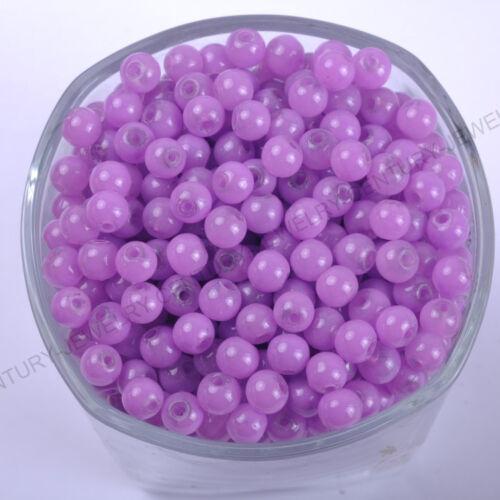 Envío gratuito de calidad superior de cristal checo imitación Jade Ronda de encanto granos flojos 4//6//8mm
