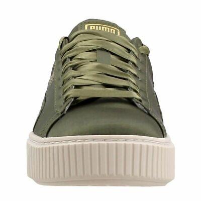 buy popular 659f0 d895a Puma Women 365719-03 Basket Platform Satin Green Fashion Sneakers Size 9  190276522624   eBay