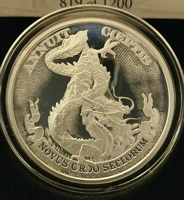1 oz .999 Silver Proof Water Dragon Fantasy Faun Queen Rare Elements NEW Viking