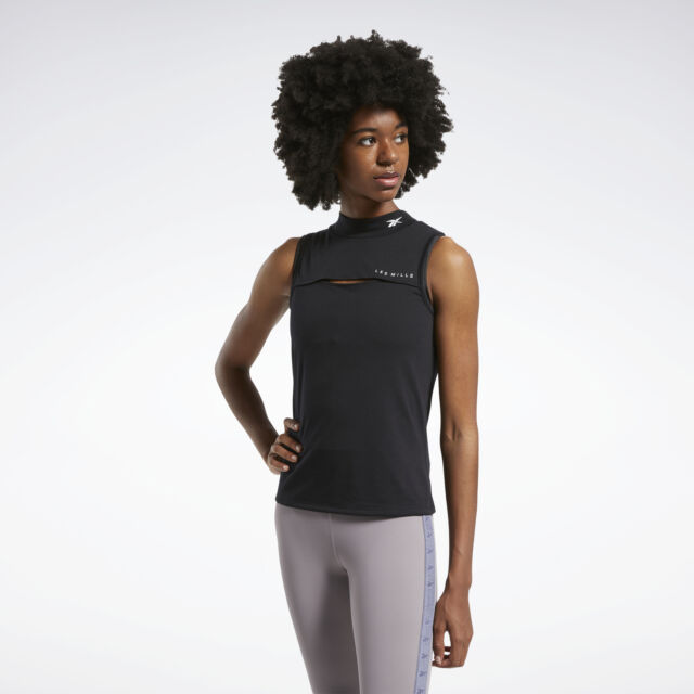 Reebok Femme LM lesmills Fitness Work Out Tank Top Athletic BHFO 2473