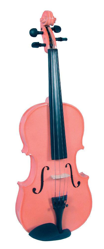 azul MOON 1 2 Talla rosado Violín  para para para Very Young Infantes  con el caso y lazo  tiempo libre
