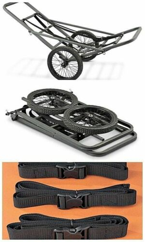 Portable Deer Cart Game Hauler Utility Gear Dolly Hunting Accessories Wheels