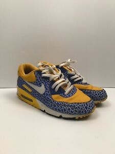 Details about nike id blue and yellow sneakers 11 Custom Air Max 1 Bubble Shoes Casual Running