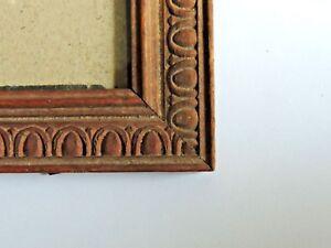 AgréAble Cadre Ancien En Bois Pour Photo Portrait 17,5x 12,5 Cm Vers 1900. Belle En Couleur