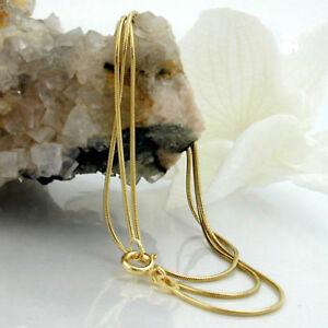 Neue-Damen-Schlangenkette-Anhaengerkette-Halskette-585er-Gold-14-KT-45-cm-0-7-mm