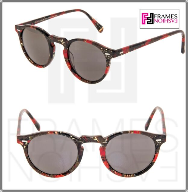 75774216b747 OLIVER PEOPLES ALAIN MIKLI GREGORY PECK SUN Palmier Red Tropical Sunglasses  5217